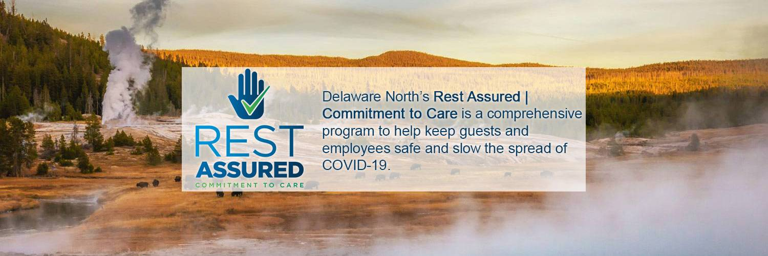 Rest Assured Commitment to Care | Delaware North's Rest Assured | Commitment to Care is a comprehensive program to help keep guests and employees safe and slow the spread of COVID-19.