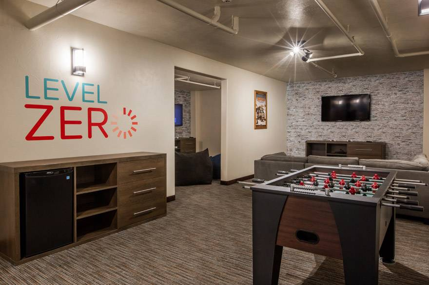 Level Zero game room at Yellowstone Park Hotel