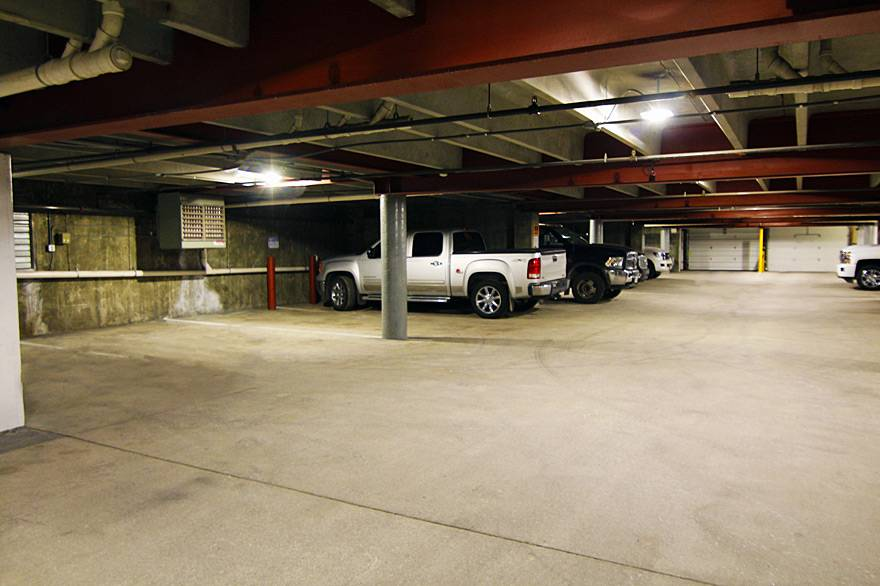 Heated underground parking at Gray Wolf Inn and Suites