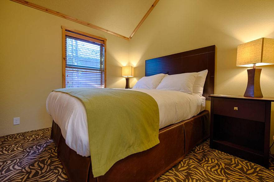 Yellowstone cabins feature a second bedroom, perfect for large parties.