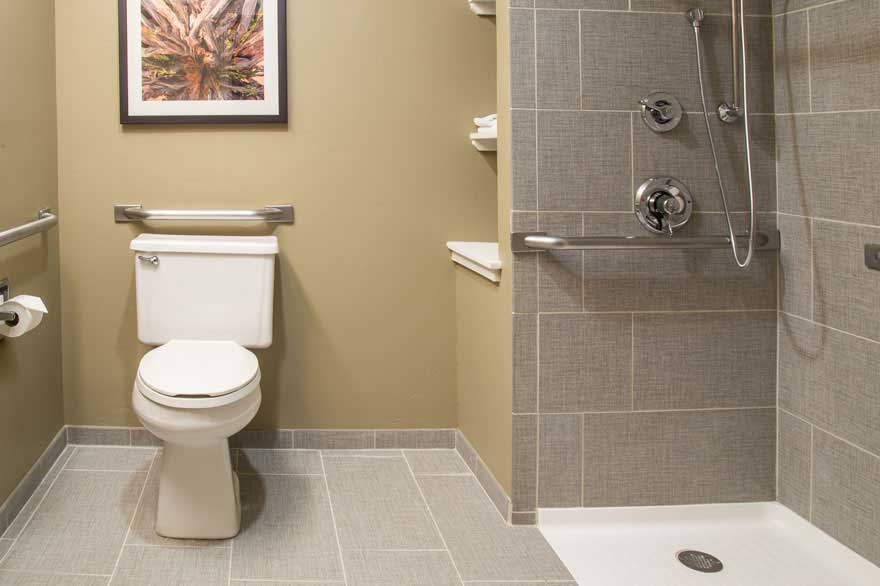 Gray Wolf Inn and Suites Bathroom