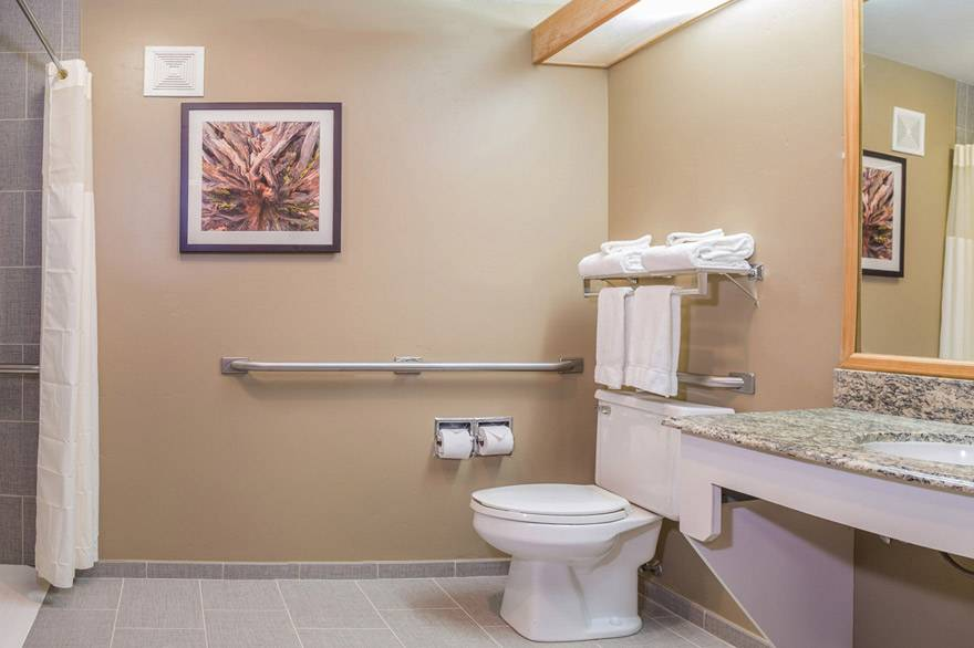 Gray Wolf Inn and Suites ADA accessible bathroom