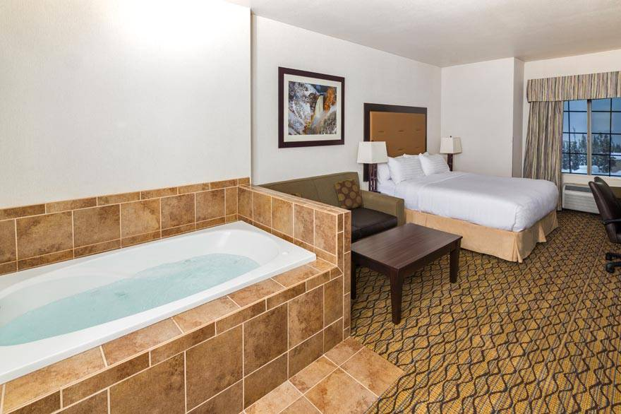 Holiday Inn King Spa room with two-person spa tub in room