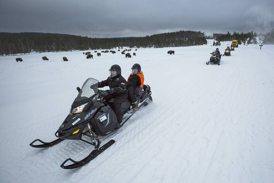 Yellowstone Vacations Snowmobile Tours