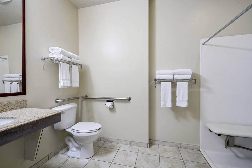 Yellowstone Park Hotel ADA Accessible Restroom with Roll-In Shower