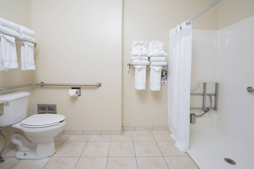 Yellowstone Park Hotel ADA access bathroom with roll-in shower