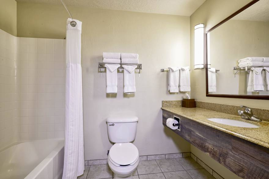 Yellowstone Park Hotel Deluxe Room Bathroom