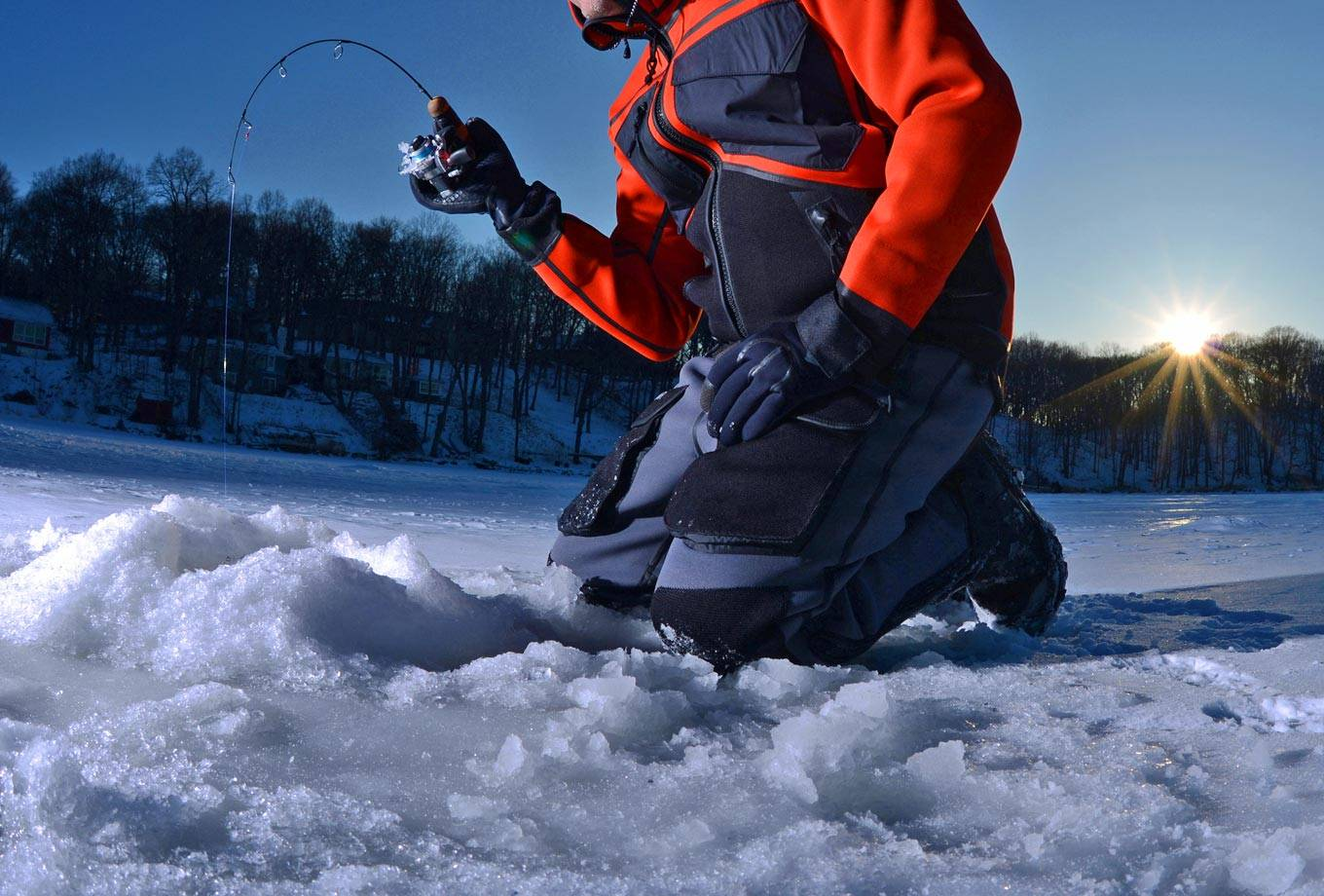 Yellowstone National Park ice fishing