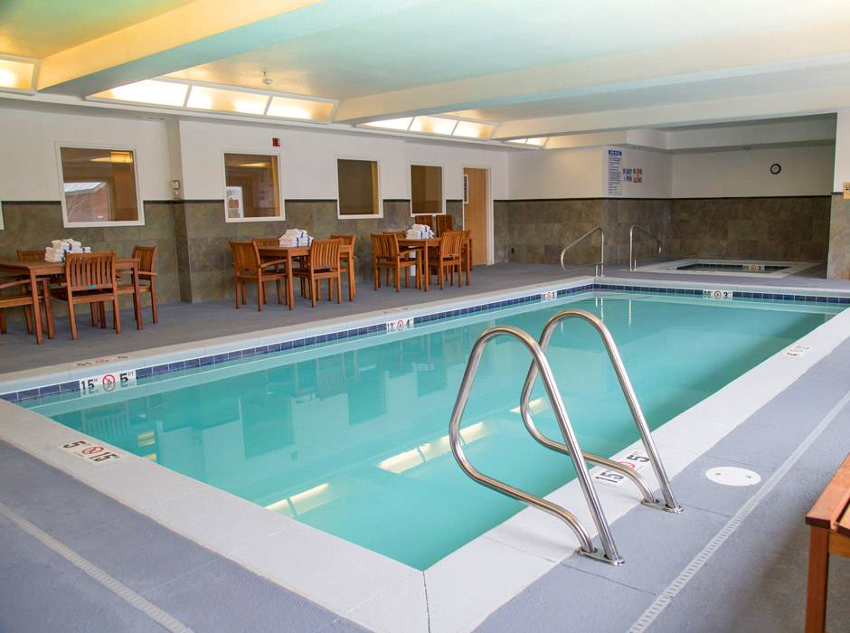 Indoor heated pool at Gray Wolf Inn and Suites