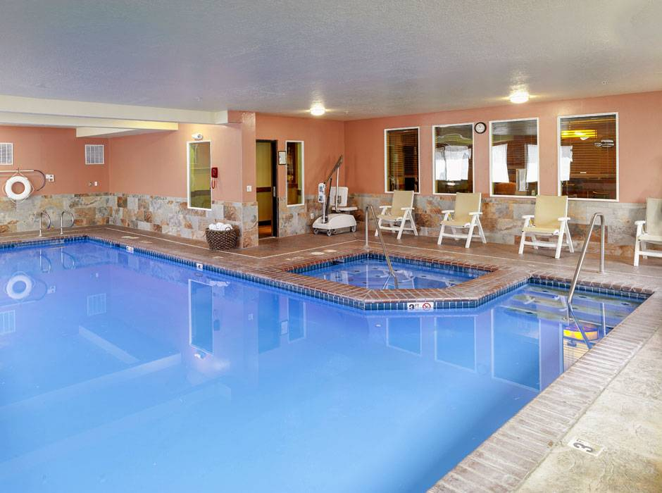 Indoor heated swimming pool at Yellowstone Park Hotel