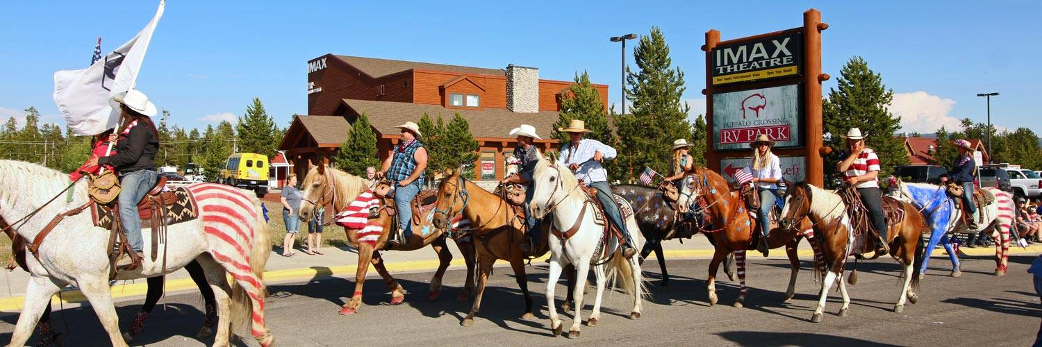 Independence Day parade in downtown West Yellowstone