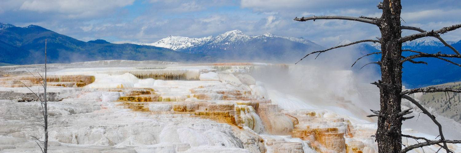 Mammoth terrace in Yellowstone Park