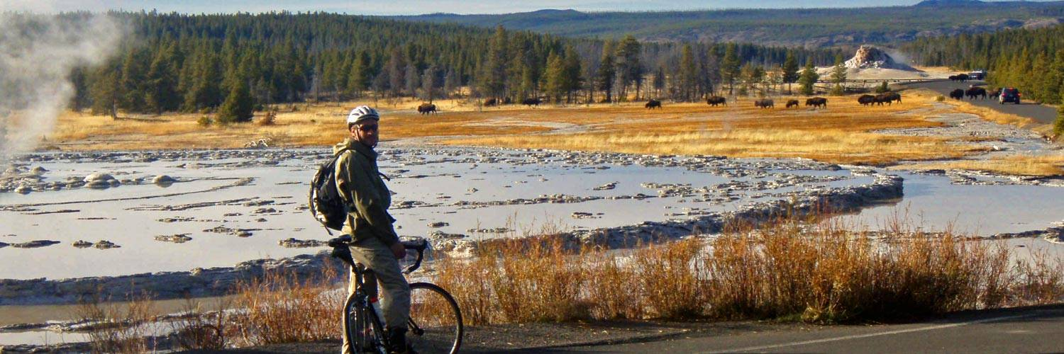 Fall cycling in Yellowstone National Park