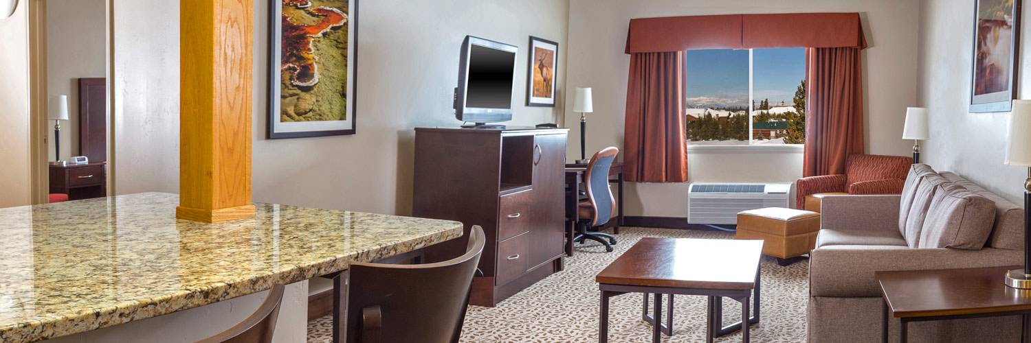 Deluxe Suite interior at Gray Wolf Inn and Suites