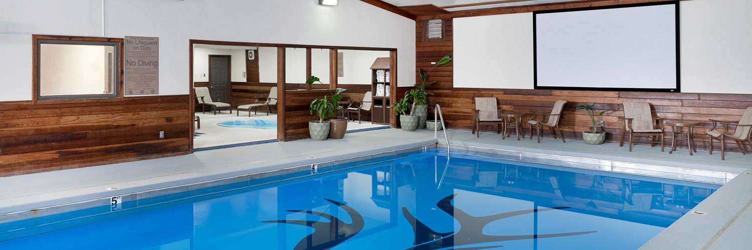 Indoor heated swimming pool at The Ridgeline Hotel at Yellowstone