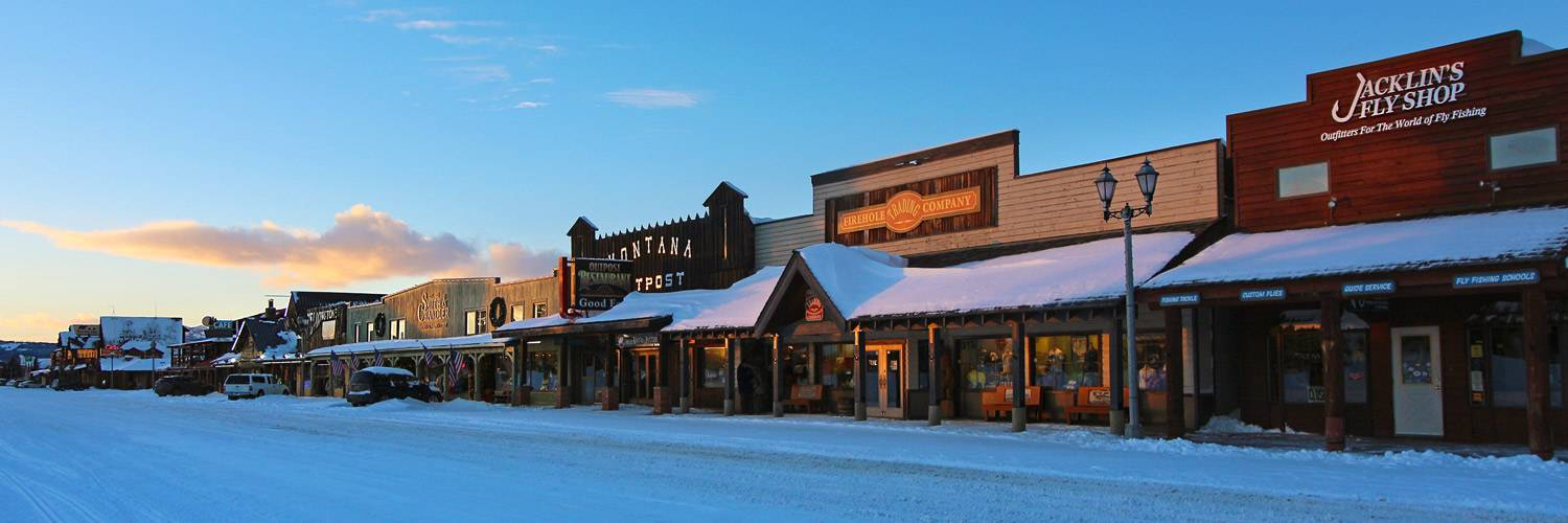 West Yellowstone, Montana in Winter