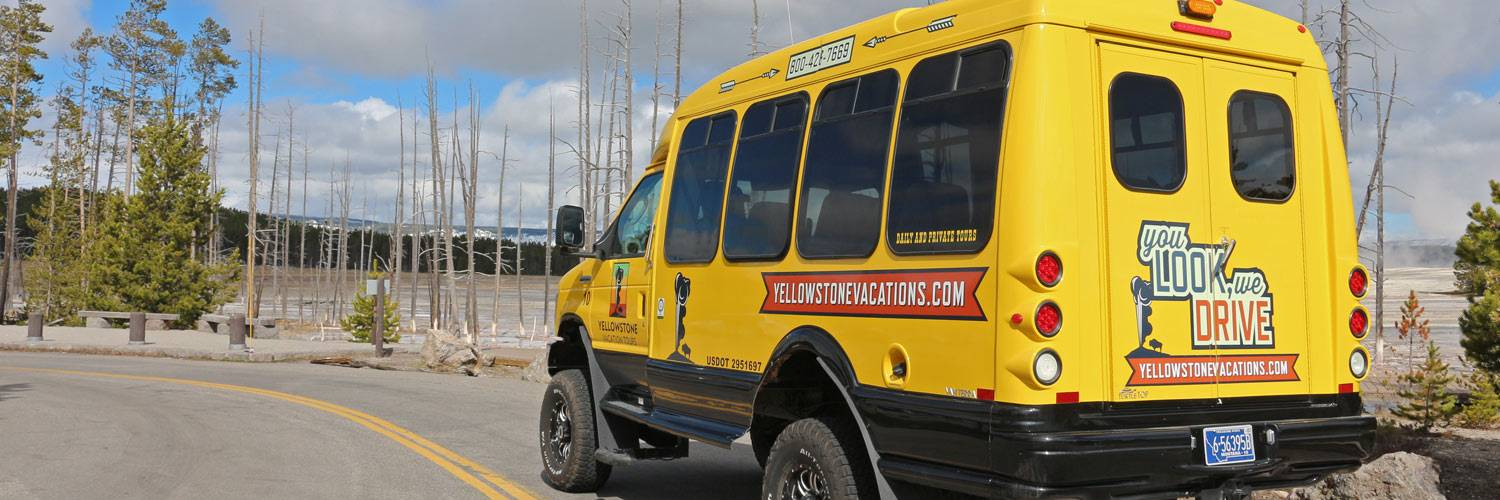 Yellowstone Vacation Tours summer bus tours near midway geyser basin