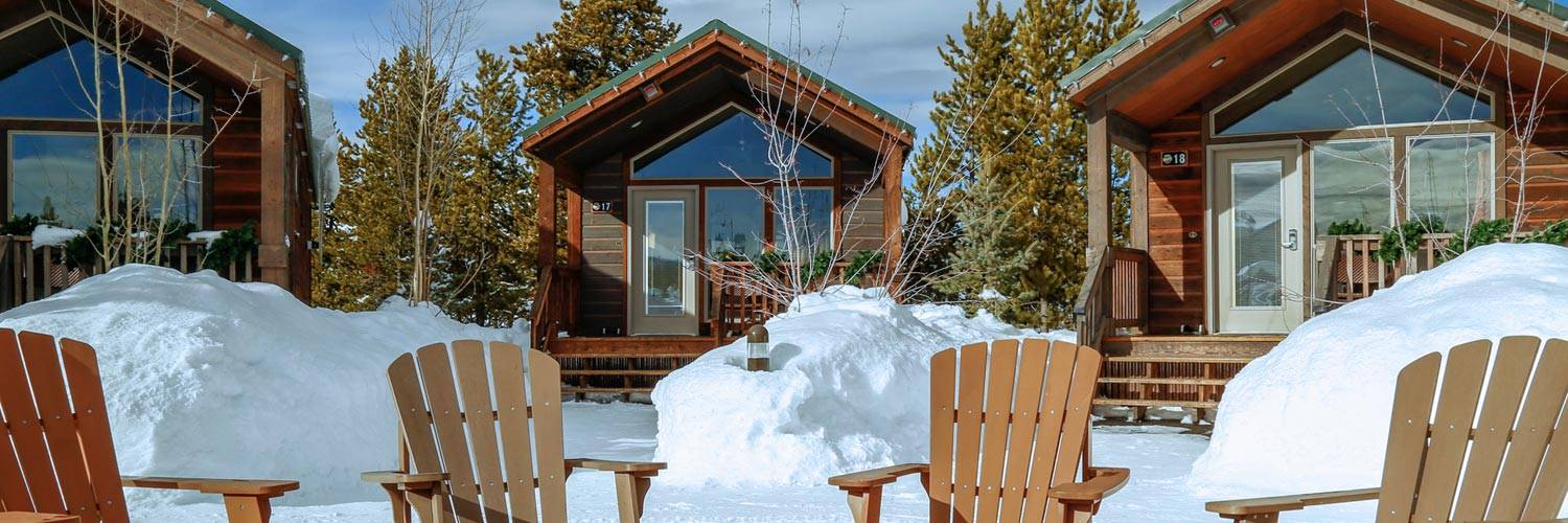 Explorer Cabins at Yellowstone during winter