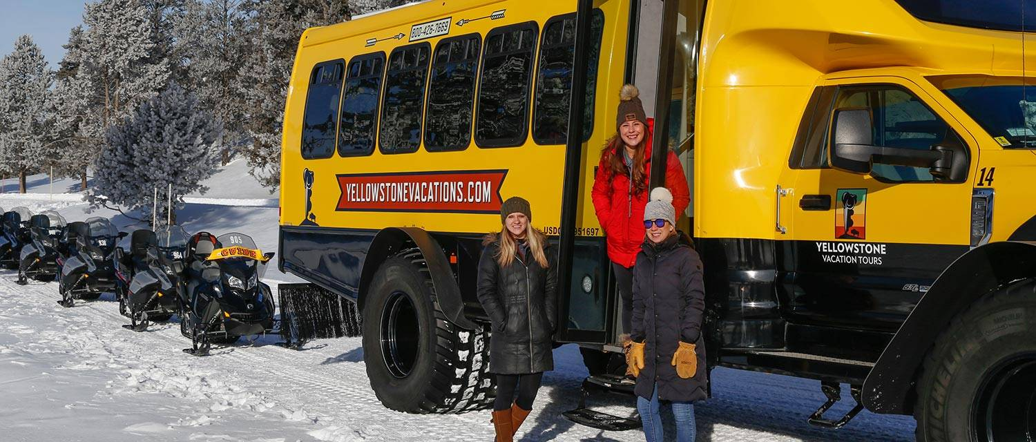 Snowcoach and Snowmobile Tours with Yellowstone Vacation Tours