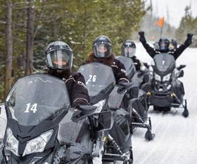 Yellowstone National Park winter snowmobile tours