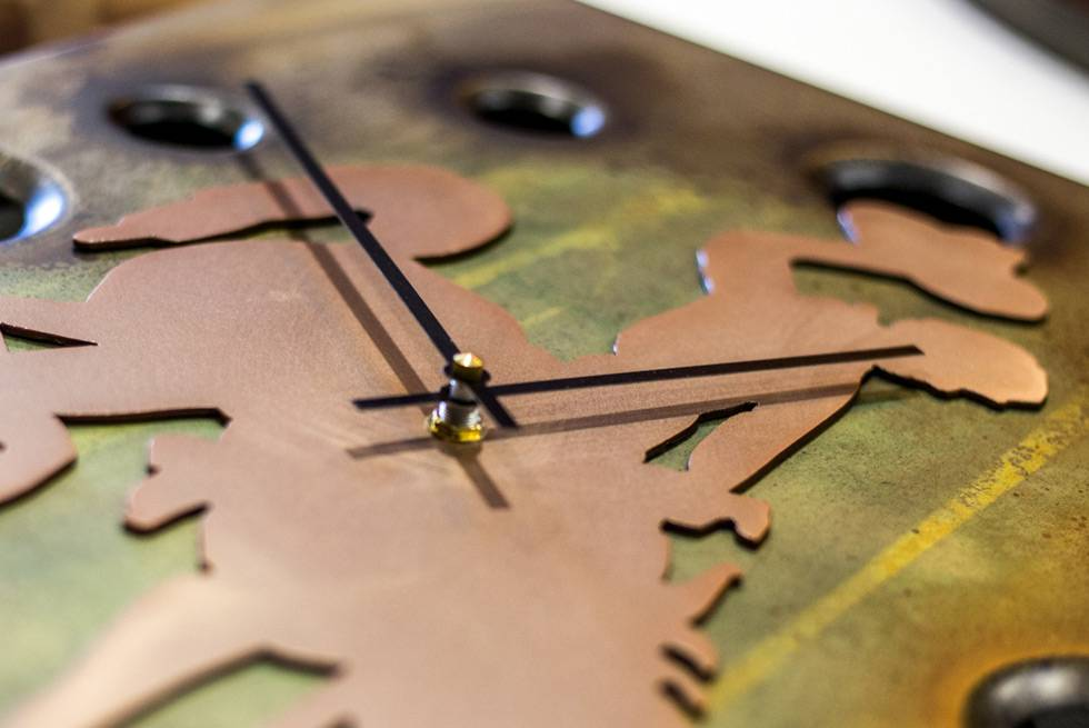 Cowboy clock available for purchase at Yellowstone General Stores