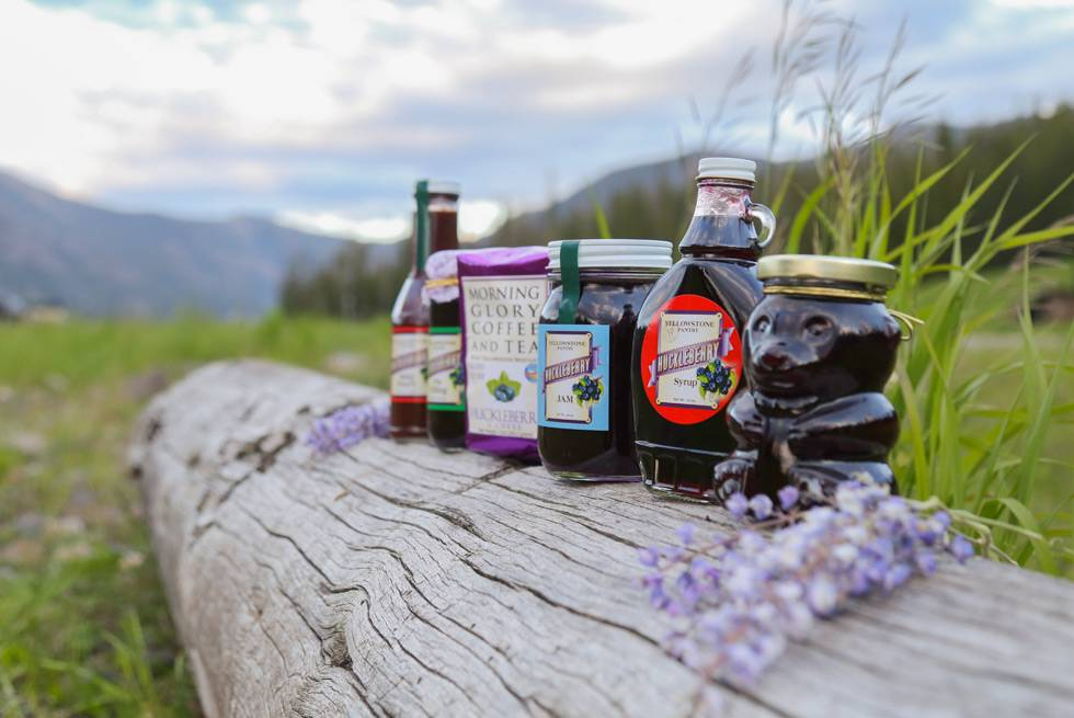 Huckleberry products available for purchase at Yellowstone General Stores