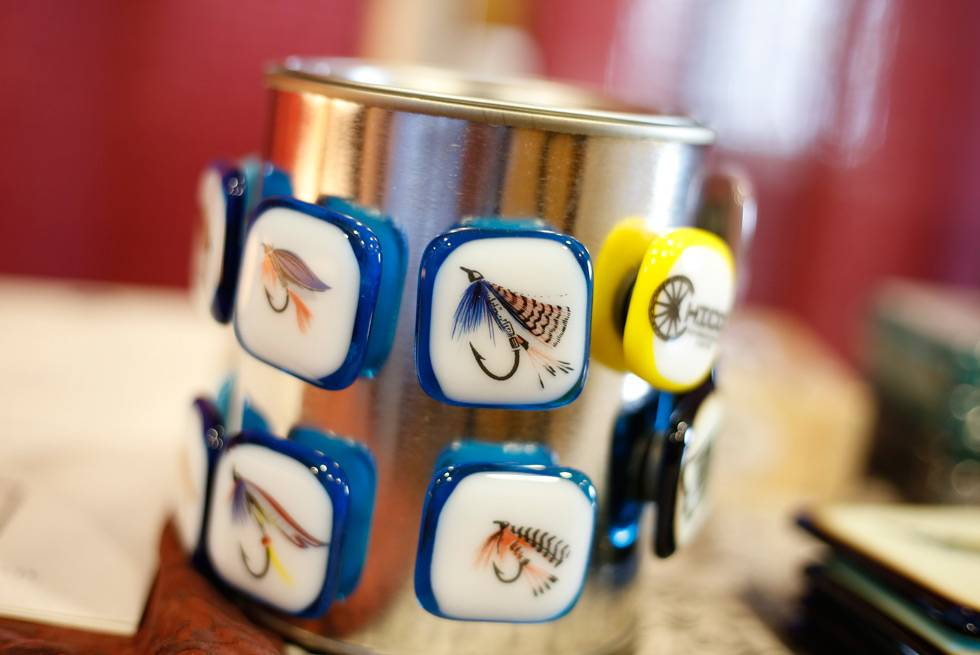 Fishing lure magnets available for purchase at Yellowstone General Stores