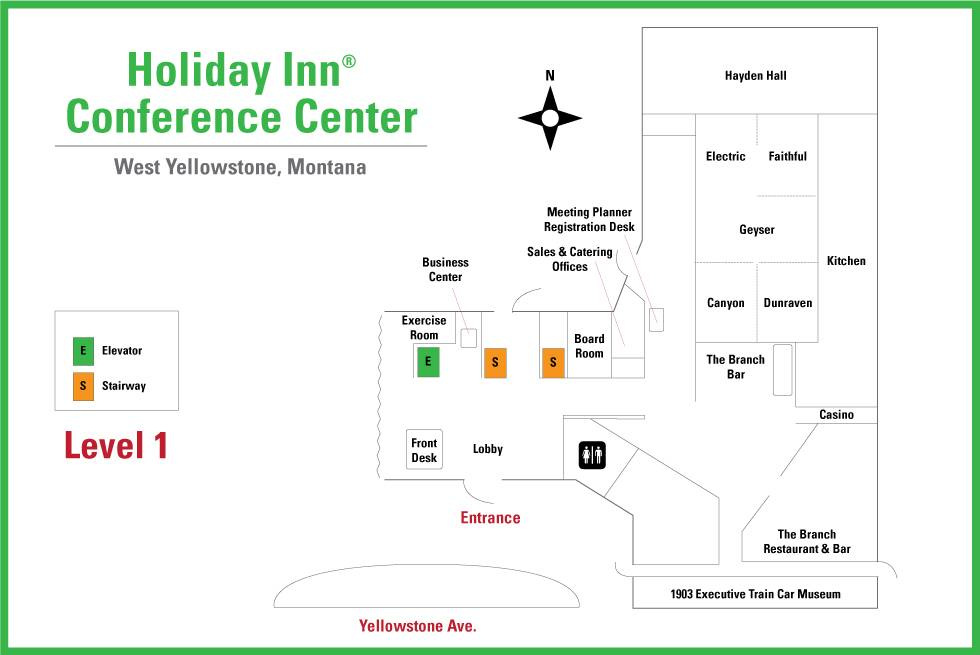 Holiday Inn West Yellowstone Conference Center Map