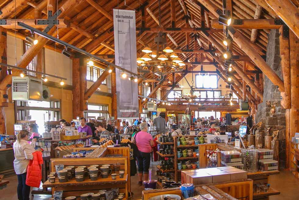Inside of Old Faithful Store at Yellowstone National Park