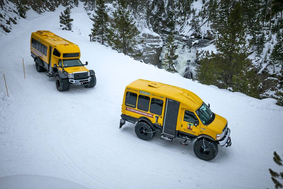 Yellowstone Vacations snowcoach tours