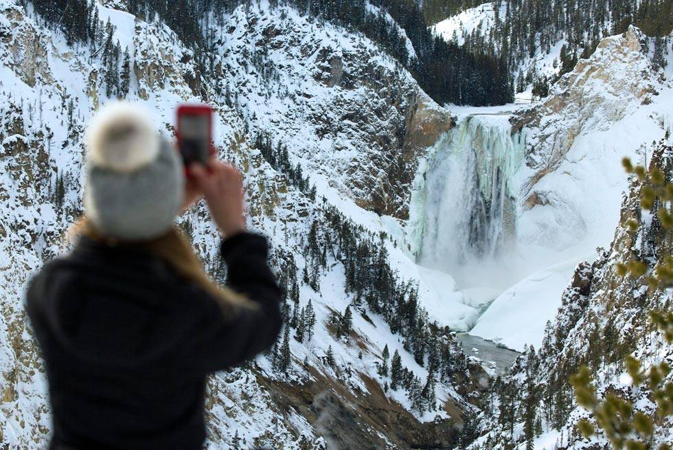 You'll have plenty of opportunities for some amazing winter Yellowstone photography on your snowcoach tour.