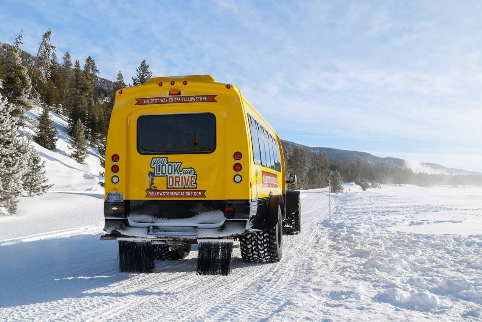 Snowcoach tours of Yellowstone National Park