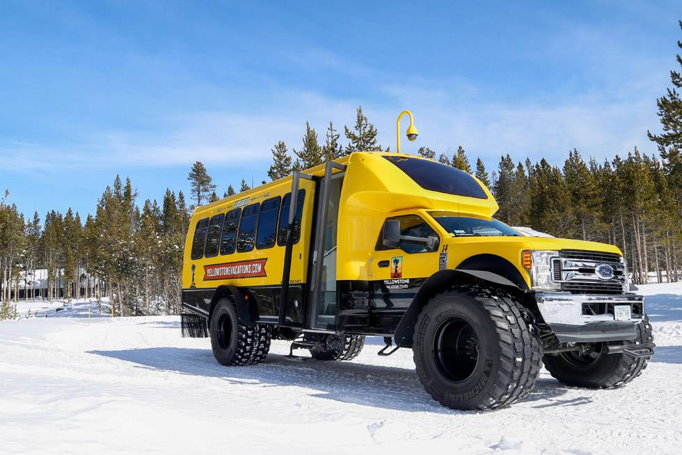 Yellowstone National Park snowcoach tours with Yellowstone Vacation Tours