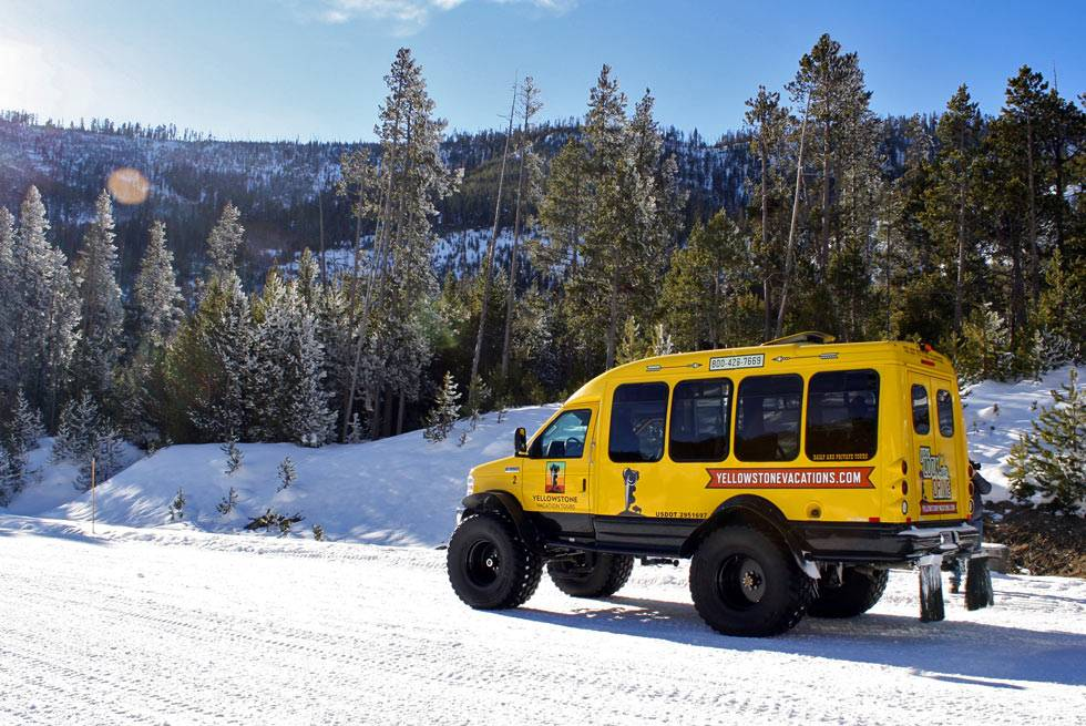 Snowcoach tours of Yellowstone National Park with Yellowstone Vacations