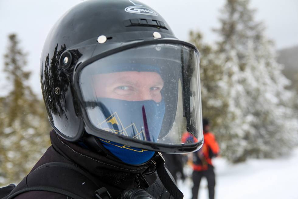 Do yourself a favor: pick up a balaclava to keep your face warm during your snowmobile tour.