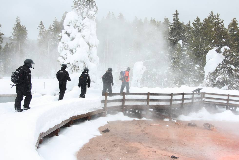 "Yellowstone's thermal features are even ""steamier"" than normal when you visit in winter."