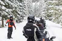 You will make many stops on your Yellowstone snowmobile tour to learn about the Park.