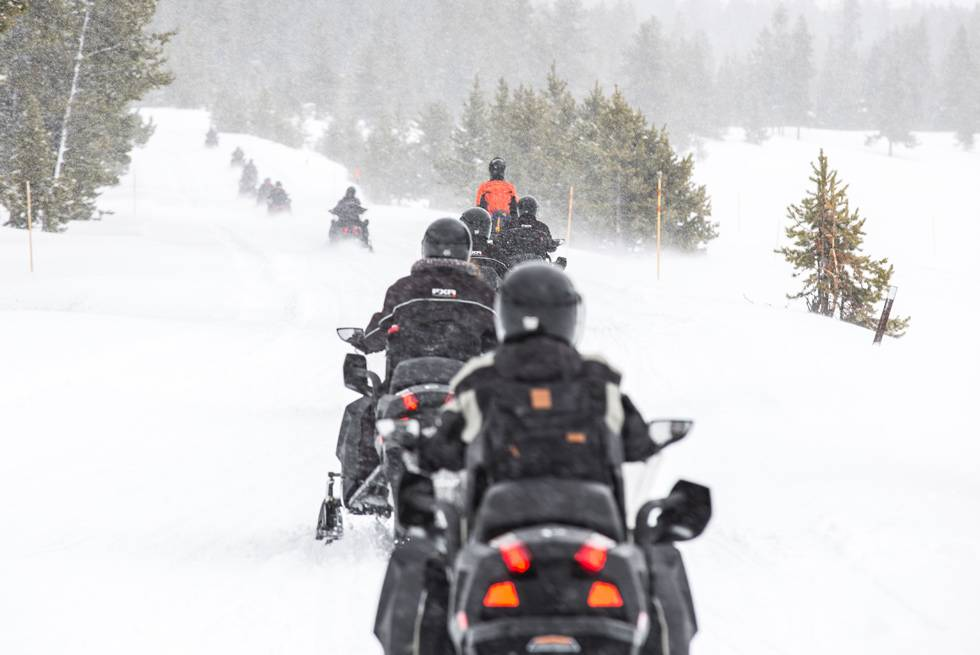 Snowmobiling is a fun and thrilling way to experience Yellowstone National Park in winter!