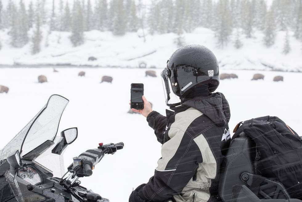 Your Yellowstone snowmobile guide will make sure you get some great winter photo opportunities.