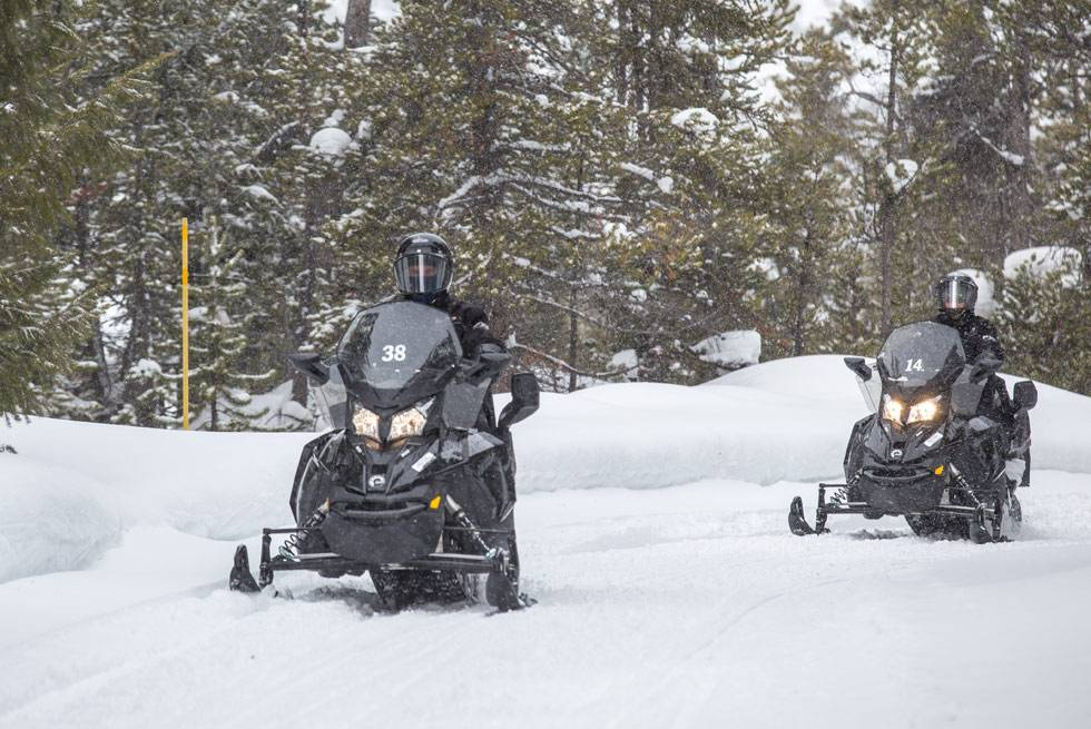 Riding a snowmobile through Yellowstone National Park is an experience like no other.