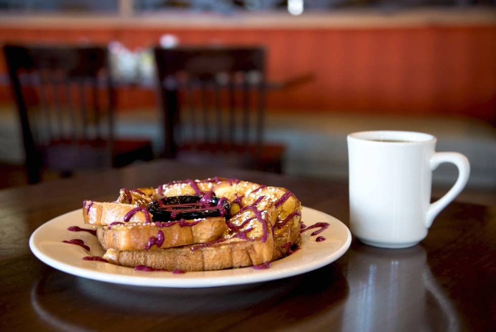 Huckleberry French Toast at The Branch Restaurant and Bar
