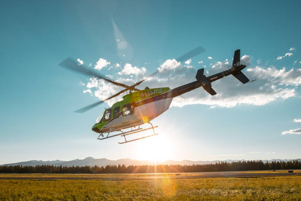 Get a unique perspective of Yellowstone with Yeti Aviation helicopter tours