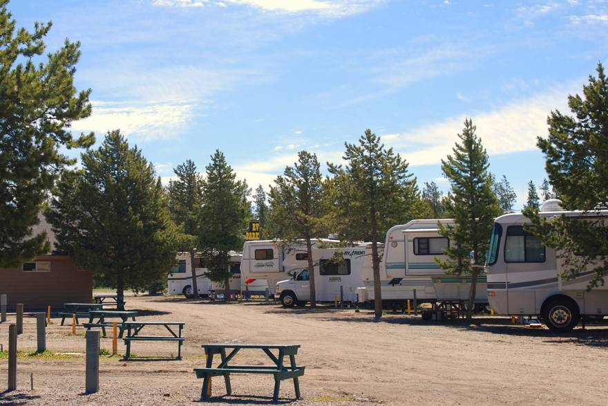 RV Trailer inside Pony Express RV Park