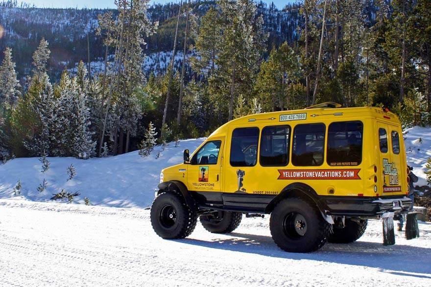 Snowcoach trips in Yellowstone National Park