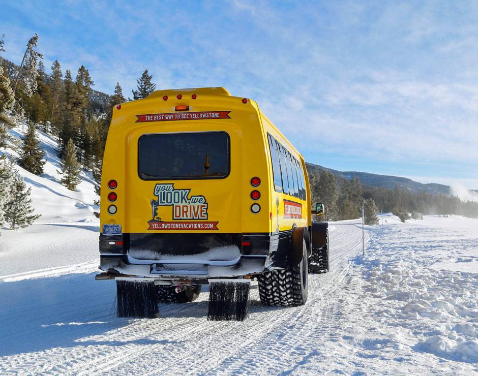 Snowcoach Tours with Yellowstone Vacation Tours