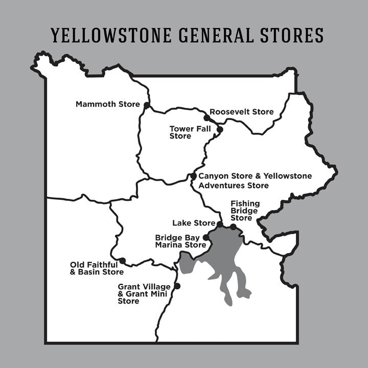 Yellowstone General Stores | Yellowstone Vacations on yellowstone wildlife map, yellowstone river valley map, glacier park lodging map, yellowstone montana map, yosemite park lodging map, yellowstone grand loop map, west yellowstone lodging map, park slope mta map, denali park lodging map, yellowstone accommodations map, park city lodging map, yellowstone on the map, gibbon river yellowstone map, yellowstone lodge, printable yellowstone map, xanterra yellowstone lodging map, yellowstone river fishing access map, phoenix lodging map, yellowstone firehole river drive, yellowstone wyoming map,